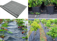 Air Permeable Black / White Breathable Weed Control Fabric Moisture Proof