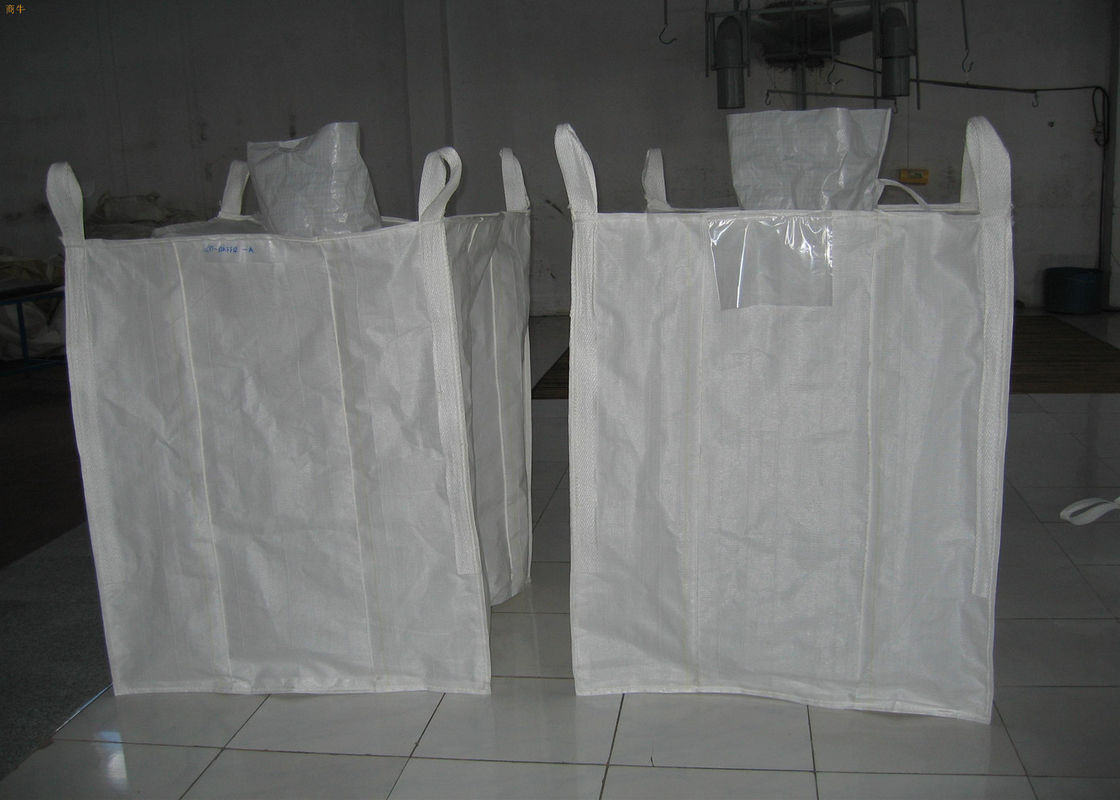 Recycled PP Bulk Packaging Bags Big Capacity With Filling Spout Top