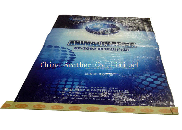 Flour / Rice Bulk Packaging BOPP Laminated PP Woven Bags High Tensile Strength