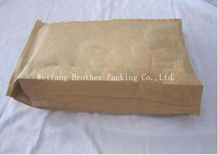 Durable Kraft Paper Plastic Composite Bag Sewn Bottom Open Mouth Custom Made